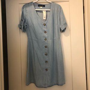 Chambray corset dress - NWT